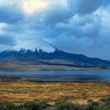The Parinacota covered in clouds