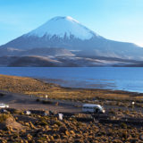The Parinacota with camp site