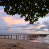 Sunset at beach Pulau Tiga
