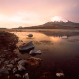 The Parinacota at sunset