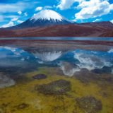 The Parinacota mirrored in lake