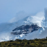The Cotopaxi shrouded in clouds