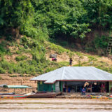 Raceboat station on the Mekong