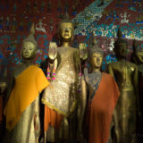 Budda statues in the Tham Thing cave