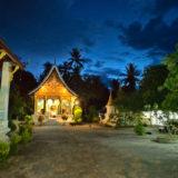 The Wat Pa Phay temple at night