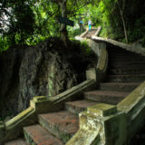 The stairs on Mount Phousi