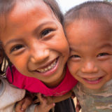 Lao kids smiling in the lens