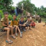 Children in a small Hmung village