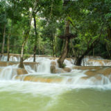 The Tad Sae waterfall