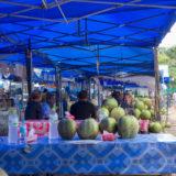 Eating on the street in Luang Prabang