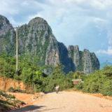 Karst mountains at Vang Vieng