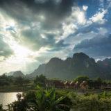Sunset in Van Vieng