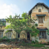 Abandoned colonial house