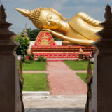 Budda statue at the Pha That Luang stupa