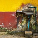 Old sink in street Yangon