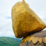 The golden rock at Kyaikto