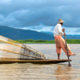Leg-rower on the Inle lake