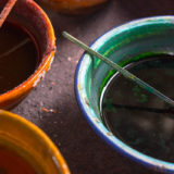 Bowls filled with pigments