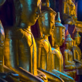 Gold statues in the Pindaya caves