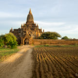 Sunset at temple in Bagan