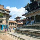 Temple and houses at Patan Square
