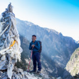 Sherpa at road to Phu village