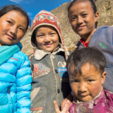 Nepalese kids from the Phu village