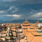 Dark clouds above Kathmandu