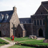 Girl at Iona Abbey