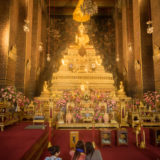 Girls in a temple, Wat Pho