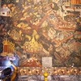 Restoring an old mural (Wat Pho)