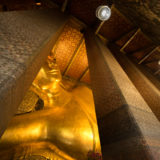 Large golden Budda statue in temple