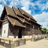The wooden Wat Phan Tao temple