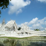 The white Wat Rong Khun temple