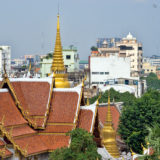 Stupa in the skyline of Bangkok