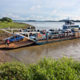 The ferry on the Orinoco river